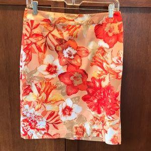 Van Heusen Studio skirt kick pleat Orange Mango 2